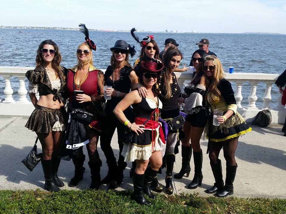 My friend, Jen and crew at Gasparilla 2015. Photo Credit: Jennifer Reynolds.