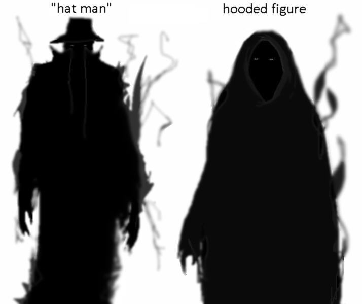 Two of the ways shadow people manifest themselves.