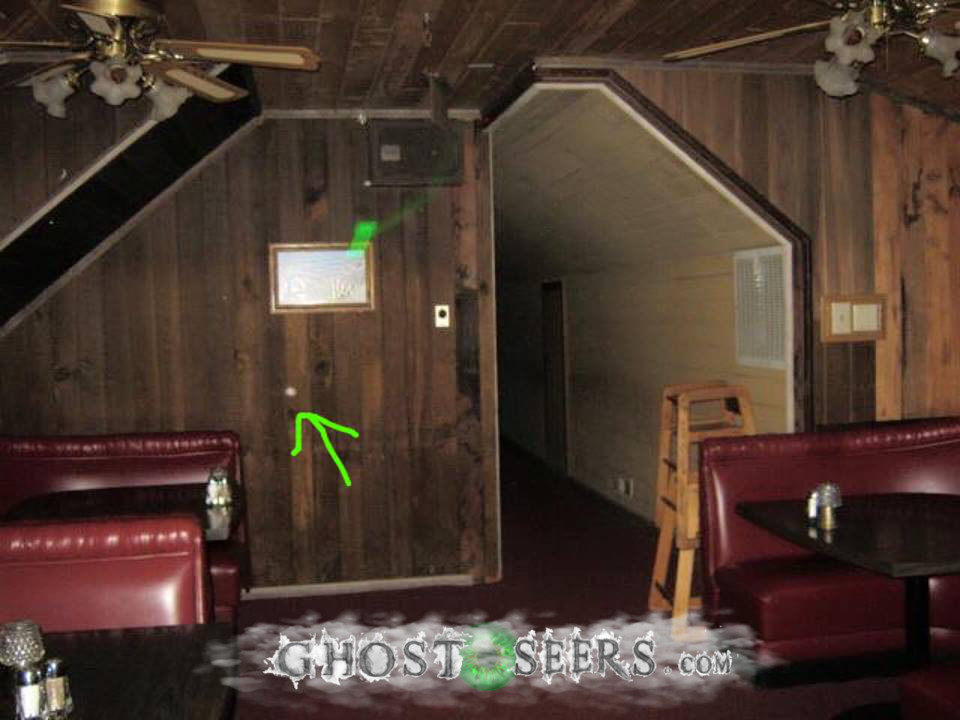 Small, dense orb in upstairs, back dining area