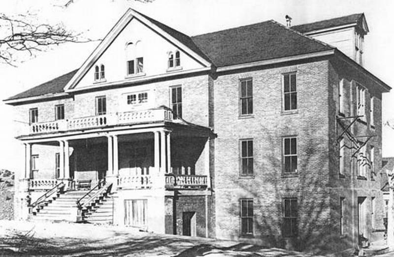 An original photo of the St. Mary Louise Hospital (Photo Credit: St. Mary's Art Center)