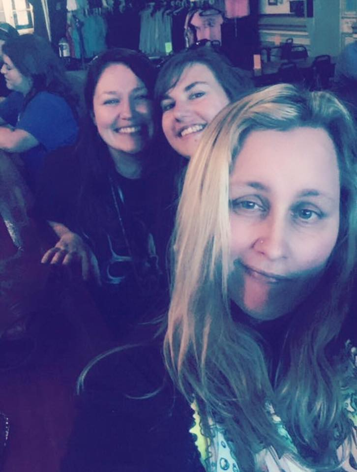 The Author, Rebecca Genesis, Leslie Rae Sinks, and Michelle Le Baron at the Washoe Club in Virginia City, NV. July 31st, 2016.