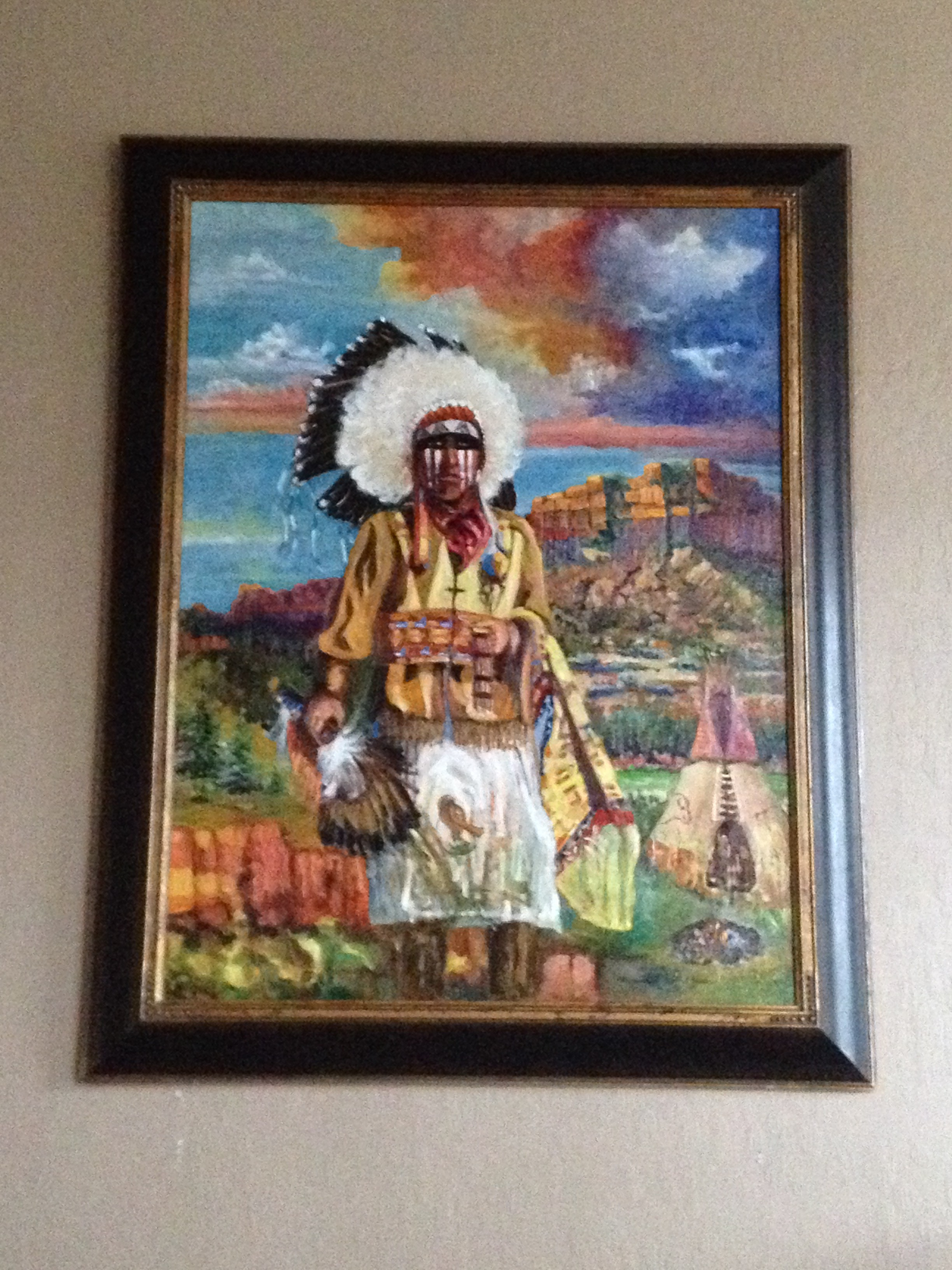 """The Chief"" painting which hangs in my parents' dining room."