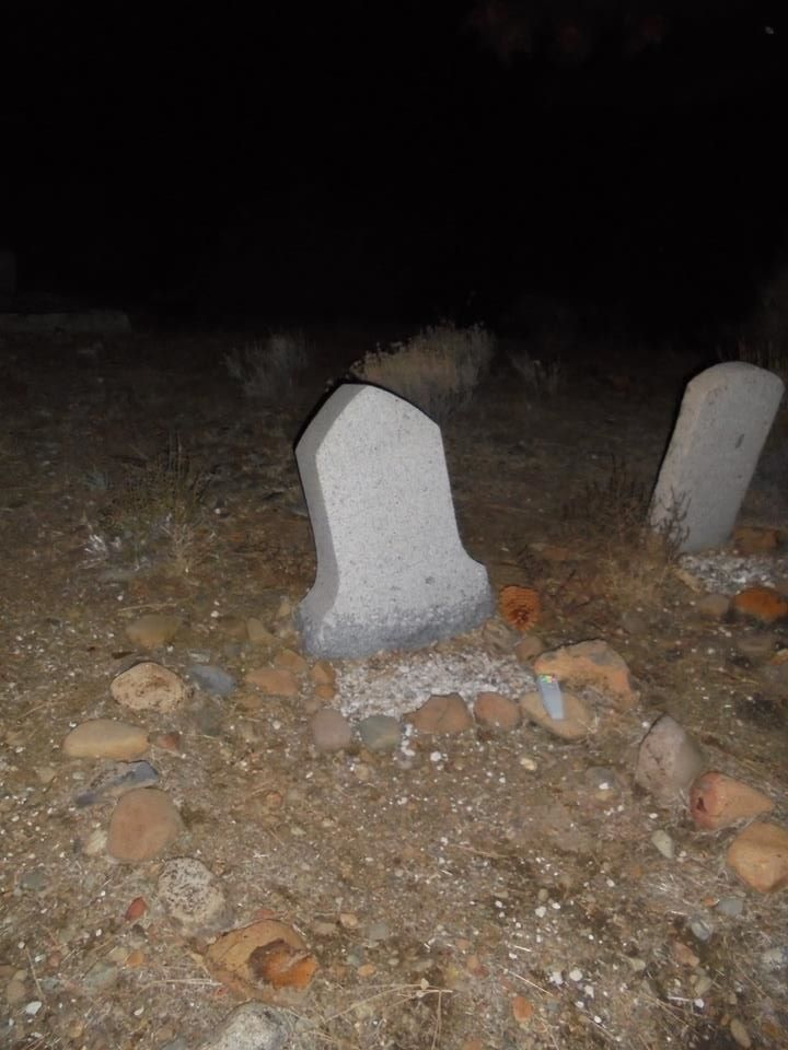 The grave of Rebecca Dunn who died at 15 years old. First person buried there in the Crystal Peak Cemetery in 1864. Verdi, Nevada.