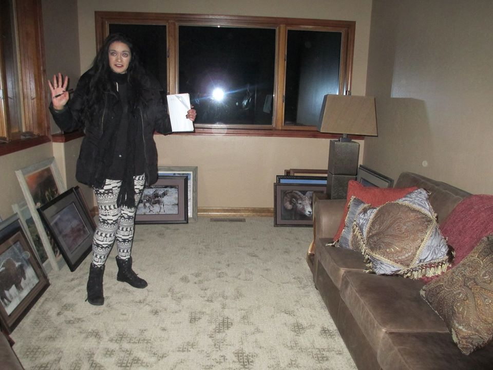 Trisha Turner channeling the shadow man in the Author's parents' home in Verdi, Nevada.