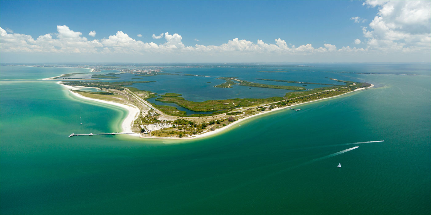 Aerial view of Fort Desoto Park